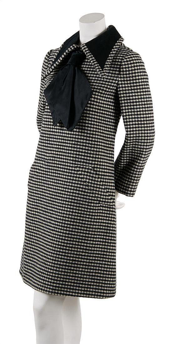 Geoffrey Beene Wool Houndstooth Day Dress, 1960s
