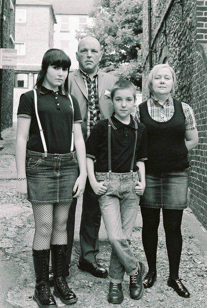 Skinhead family.