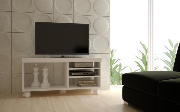 """Rack branco, com 4 prateleiras, para televisão de até 32"""", com um preço que você não vai acreditar! http://www.criartambientes.com.br/rack-brv-br166-06-branco-mdp-4-prateleiras-rack-para-tv-ate-32-estante-para-sala.html#"""