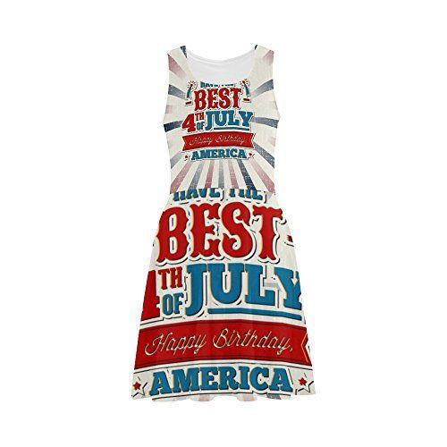 July 4th Women's clothing is hotter than ever  this year for summer 2017.   Bold shades  of red, white and blue clothing is not only stylish but sexy.   Women's Patriotic clothing has never been so  cute, adorable and stylish. You will love all these summer fashions!  Consider getting you some American Flag  clothing and show your love, pride and passion for America this July 4th        Women's Happy 4th Of July Patriotic Independence Day Polyester Casual Sundress XXL