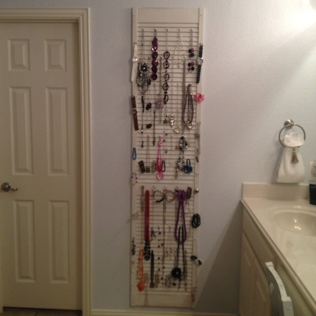 A Guide To Using Pinterest For Home Decor Ideas: Jewelry Organizer From Old Shutter.