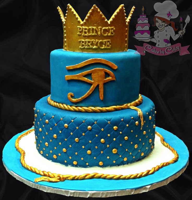 Amazing Egyptian Prince Baby Shower Cake...so Cute