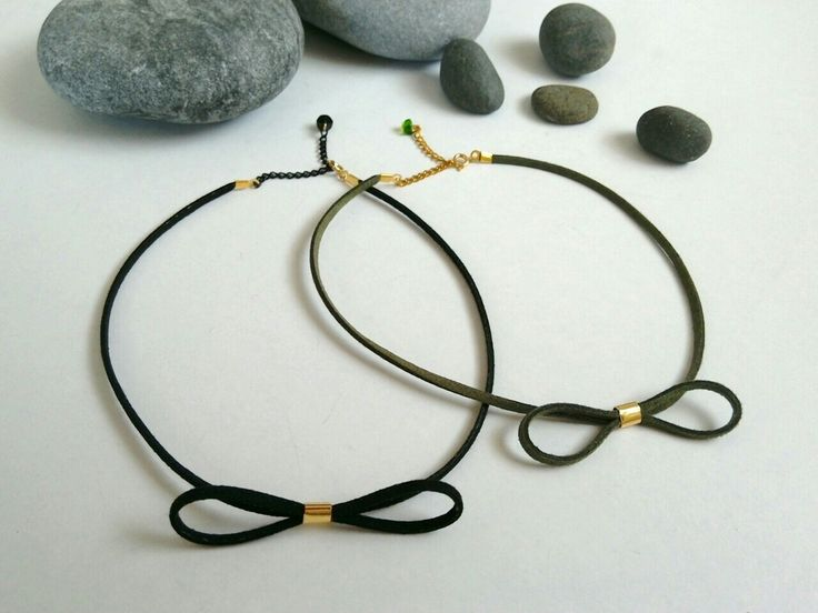 Suede choker necklaces. https://el-gr.facebook.com/ElitasBijoux