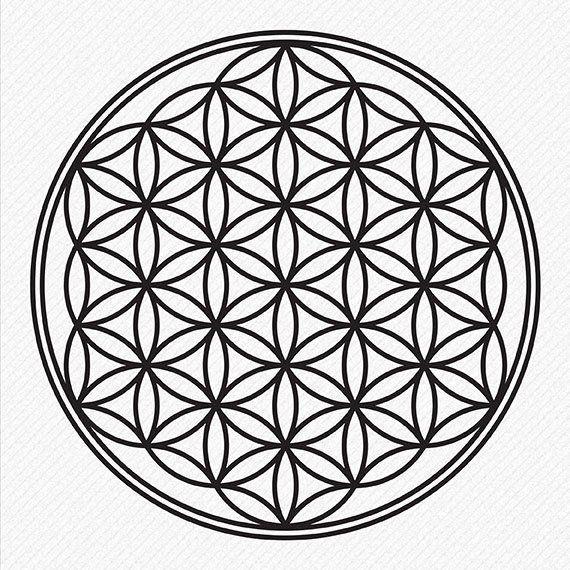 Flower Of Life Svg Kabbalah Symbol Vector And Clip Art File Etsy Flower Of Life Tattoo Flower Of Life Flower Of Life Pattern