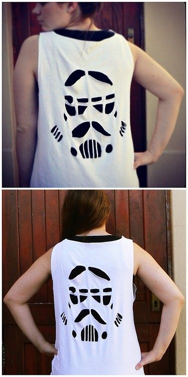 Transform your drab shirt into a fashionable statement of your love for Star Wars!