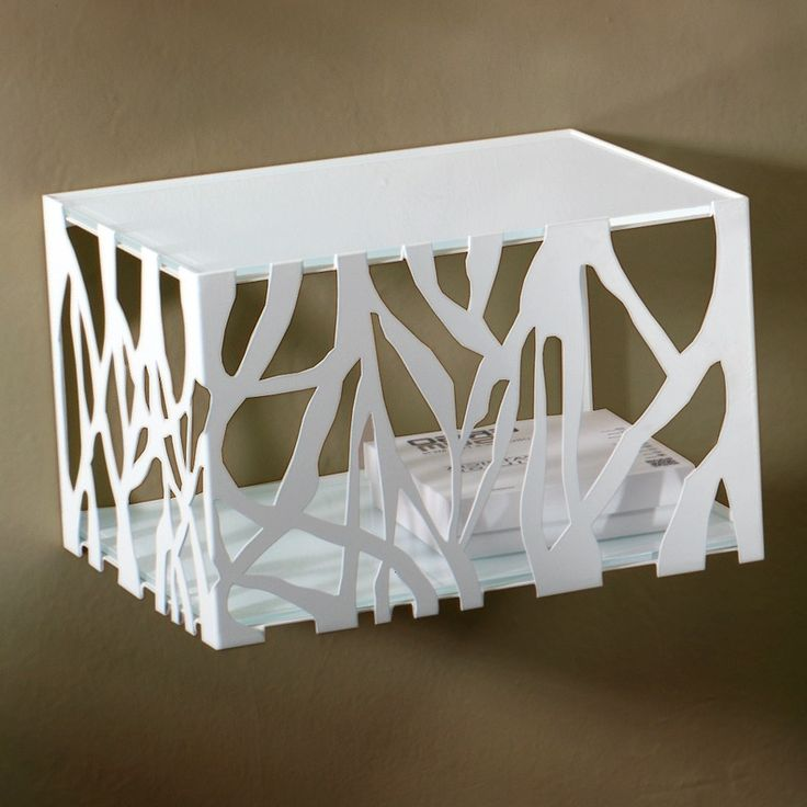 Stylish and elegant metal glass topped bedside table in white brown an at My Italian Living Ltd