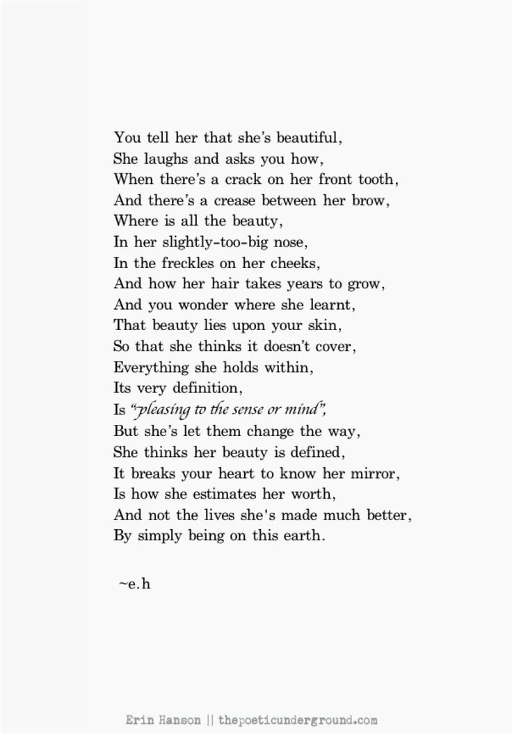 A beautiful poem about the nature of beauty with a lesson all should heed!