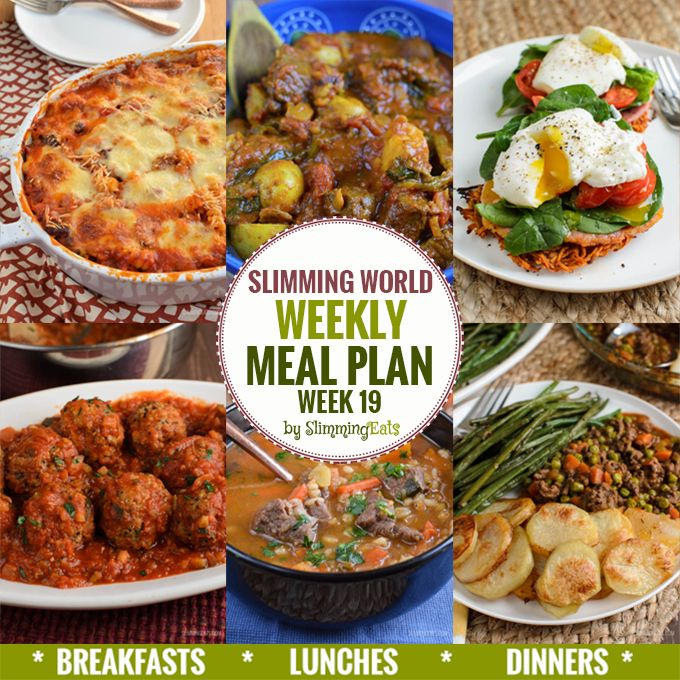 Slimming Eats Weekly Meal Plan - Week 19 - Slimming World recipes taking the work out of planning so you can just cooked and enjoy the food.l