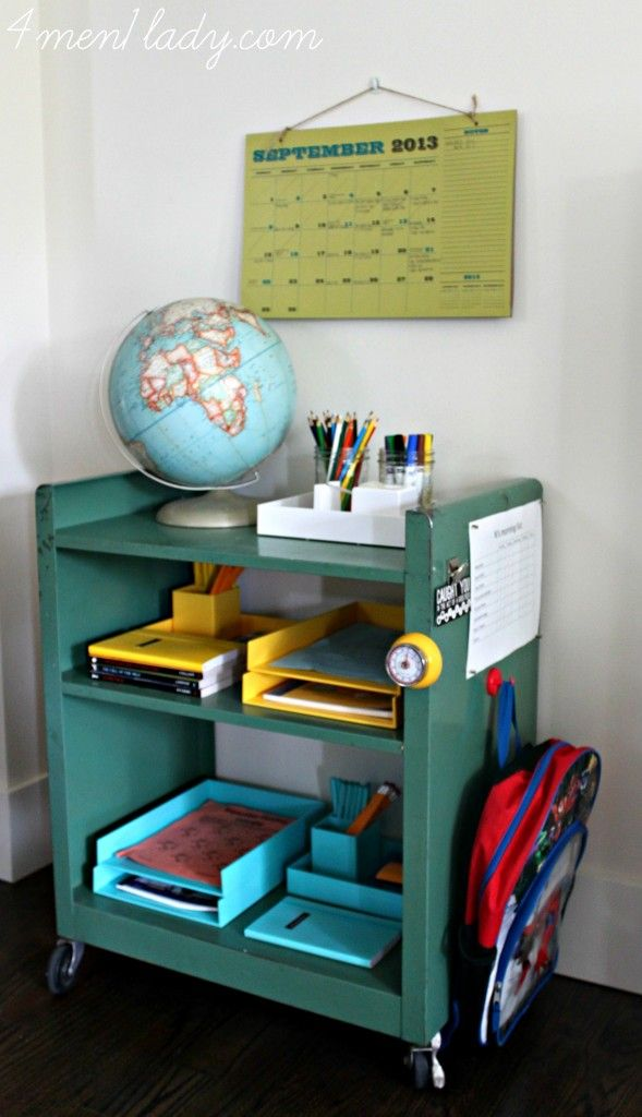 Get Organized With A Diy Homework Station