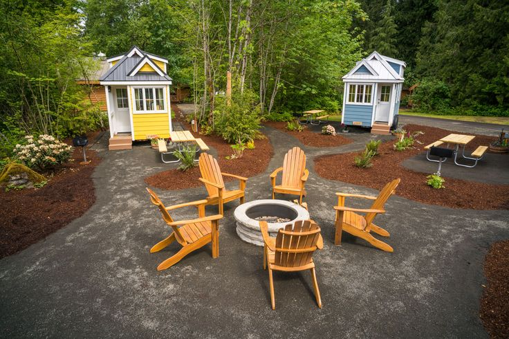Mt. Hood Tiny House Village now offers five tiny homes as overnight rentals. Photos, video, what this does for the tiny house movement and more!