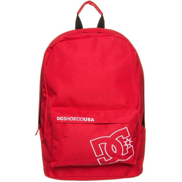 DC Shoes BUNKER SOLID Rucksack formula one ($30) ❤ liked on Polyvore featuring bags, red, zip bags, print backpacks, zipper bag, pattern backpack and red backpack