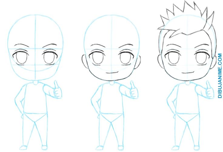 Como dibujar Chibis anime (Mujer y Hombre) Tutorial Paso a paso | Dibujanime!