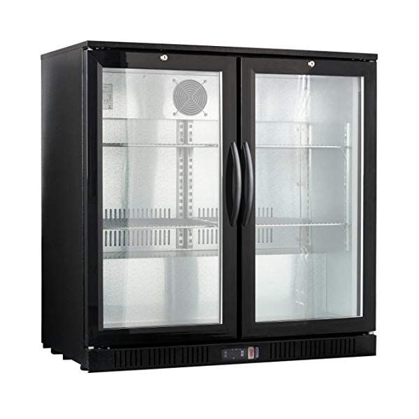 36 Wide 2 Door Back Bar Beverage Cooler In 2020 Back Bar Beverage Cooler Double Glass Doors