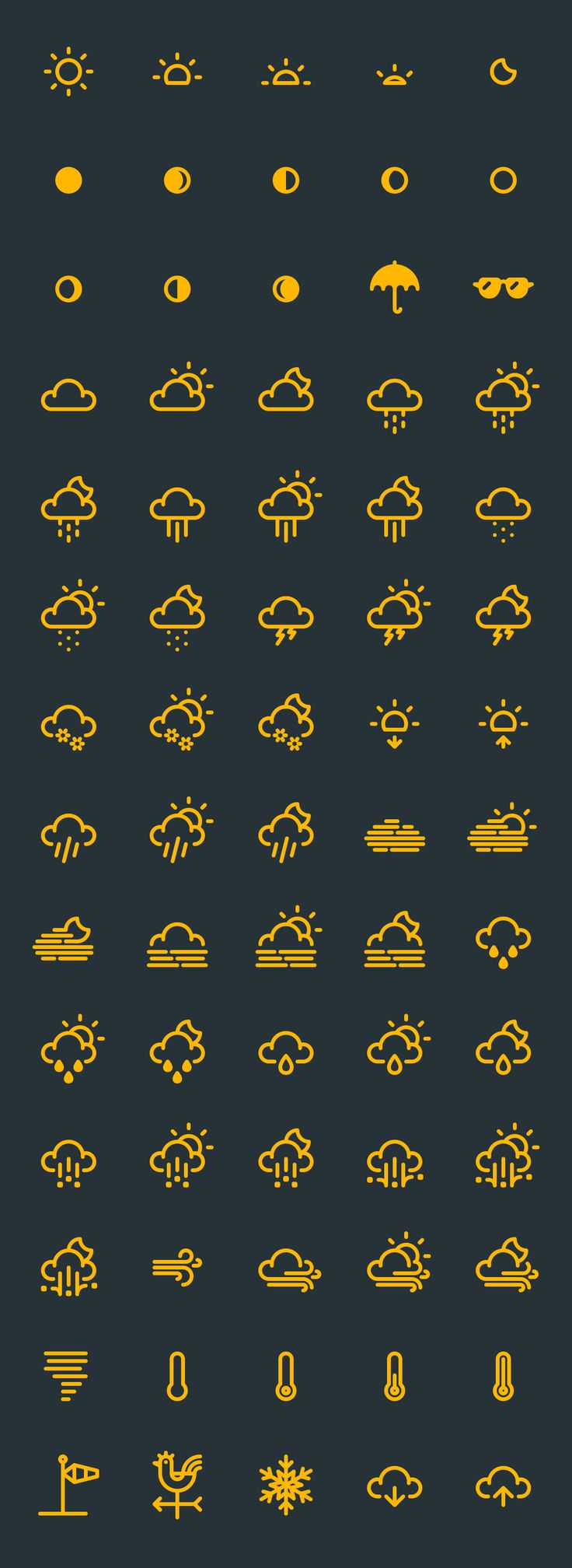 The Best 17+ Free Weather Vector Icon Sets We'…