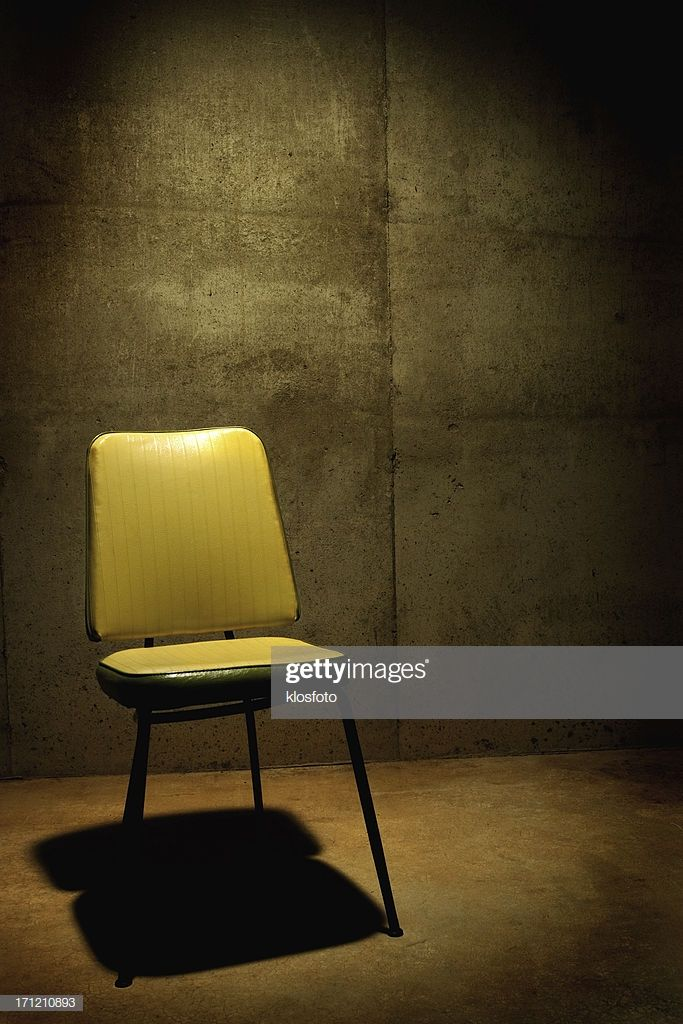 Empty Chair In Cold Dingy Interrogation Room Dark Room Photography Light Background Images Love Background Images