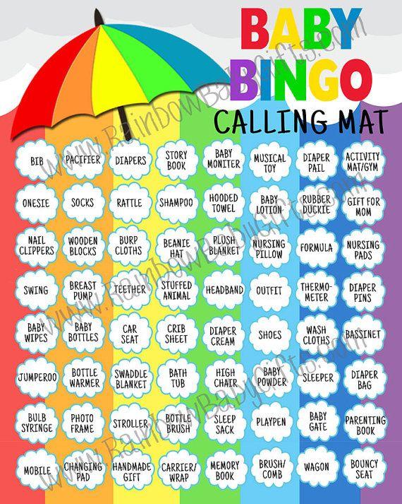 Baby Shower Bingo, Rainbow Baby Shower Bingo, Baby Bingo, PRINTABLE Baby  Shower Games, Baby Shower Bingo Cards, Printable Baby Bingo Cards