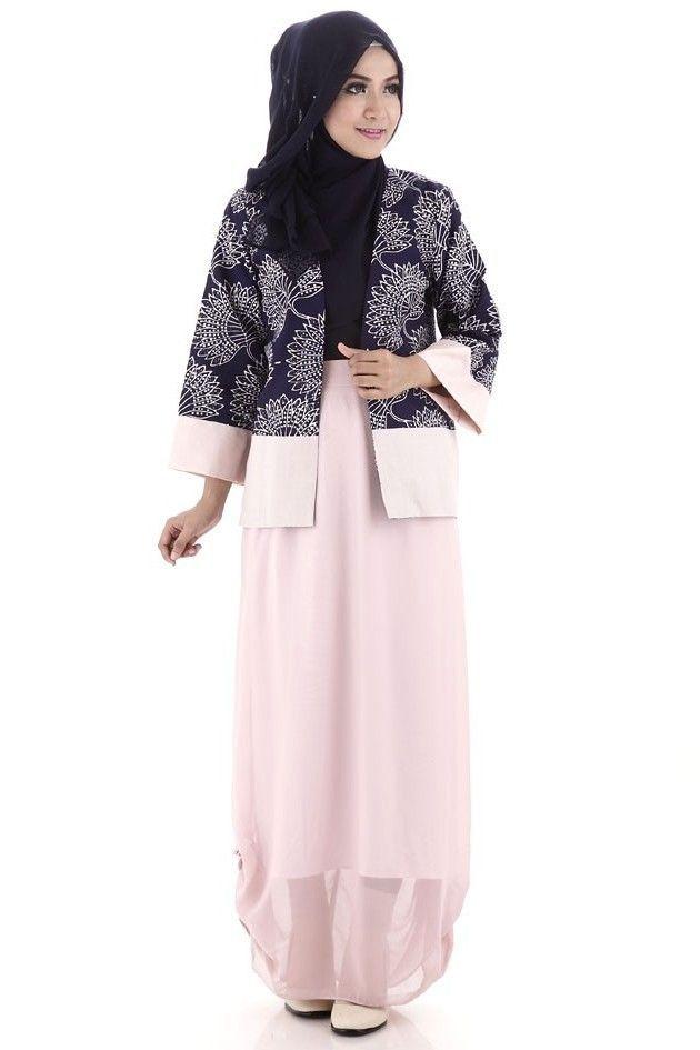contoh model batik muslim modern