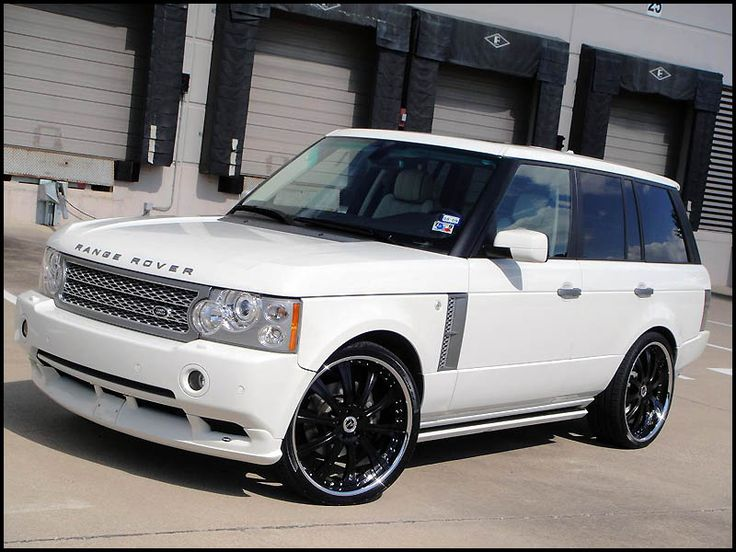White Range Rover Sport (supercharged) on Silver VOSSEN VVS-083 - MY350Z.COM Forums