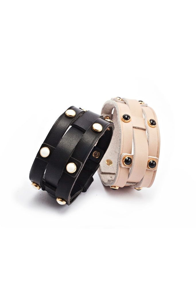 spring 2014, isabel marant, jewelry, bracelets, black, beige