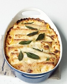 Squash Cannelloni - soooo good! I usually make it with regular cannelloni noodles, or just layer everything in lasagna style.