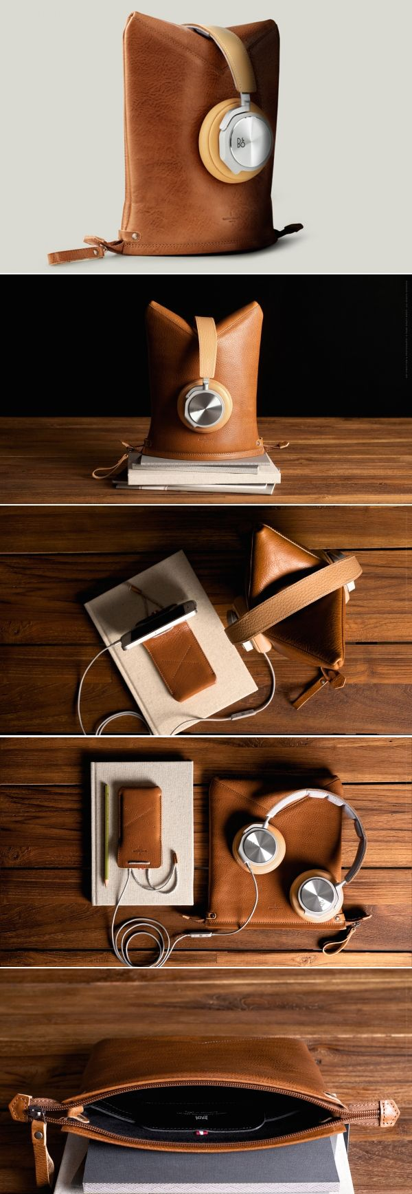 #hardgraft Peak Headphone Case and Stand. Earphone kulit
