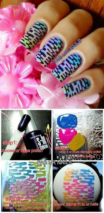 Nail art. Awesome stamps.