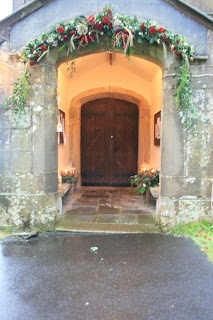 Flower Design Events: Christmas Church Door Arch