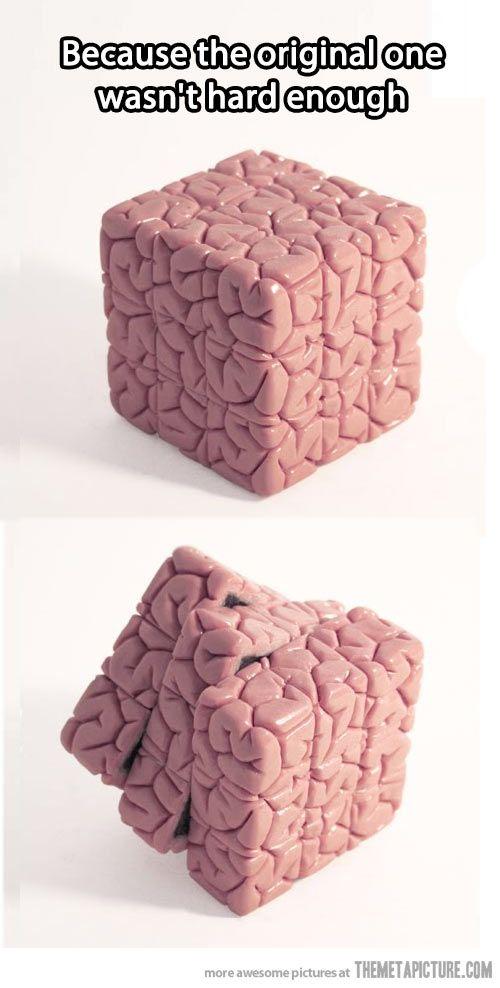 Rubik's brain… {Gross.... and brilliant}