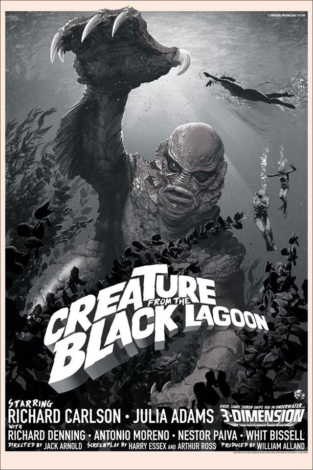 Creature from the black lagoon variant by stan vince mondo tees
