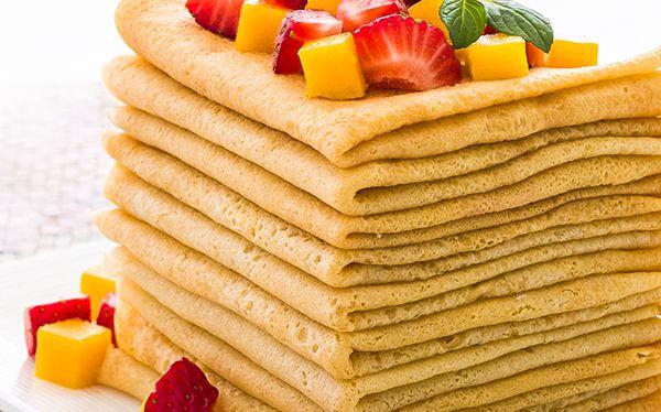 Prepara tu propia pasta para crepas, y experimenta con muchos ingredientes, dulces o salados.