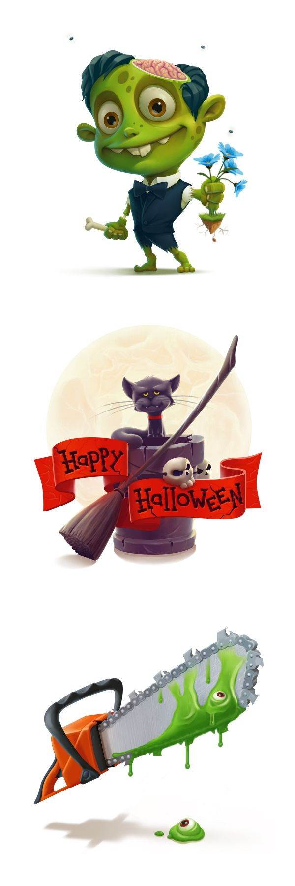 Helloween Gifts by Anton Kuryatnikov ★ Find more at http://www.pinterest.com/competing/