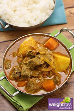 Chunky Beef & Potato Curry. #HealthyRecipes #CurryRecipes #WeightLoss #WeightlossRecipes weightloss.com.au