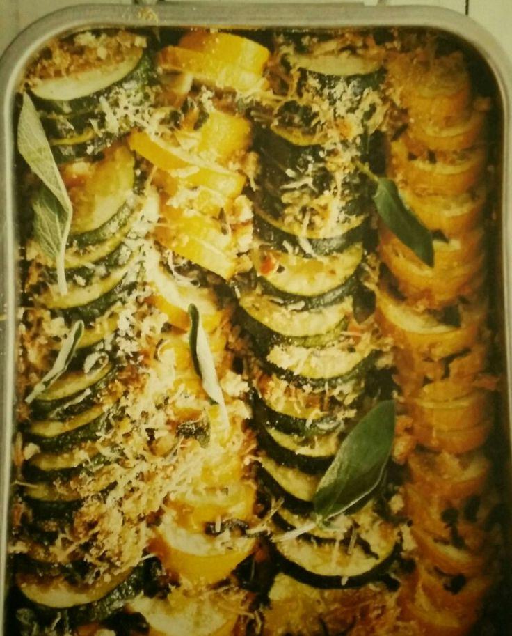 De courgettes uit de oven