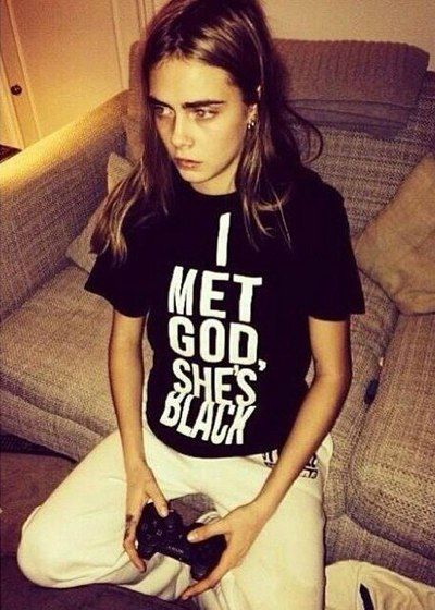 That shirt is great. Who's to know the gender or race of god?