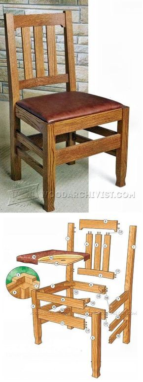 Dining  Room Chair Plans - Furniture Plans and Projects   WoodArchivist.com