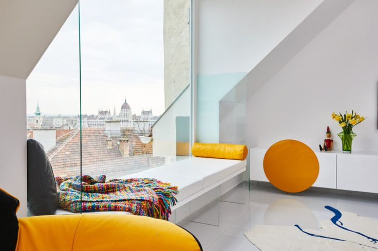 A Budapest Attic Apartment Designed with Primary Colors
