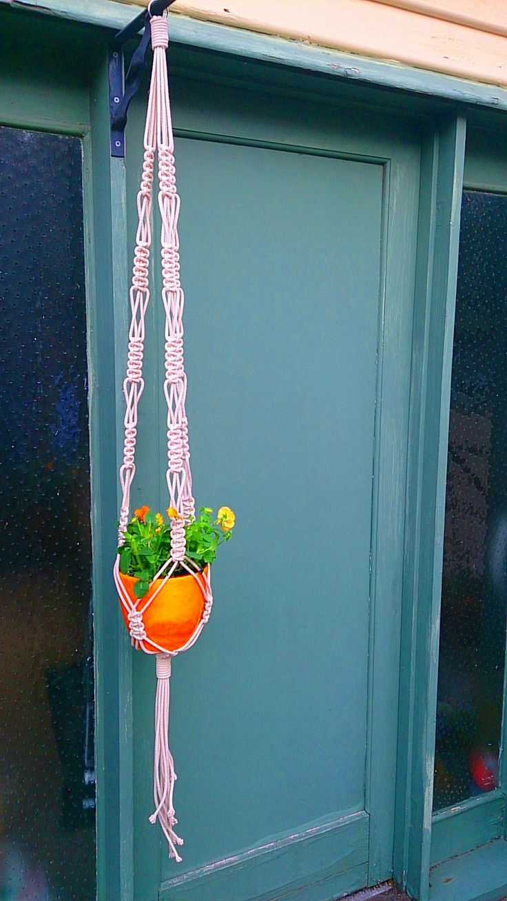 Orange and square macrame by MKT Designs 2014