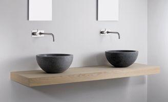 Wastafel natuursteen, hardstenen wastafels, design waskom