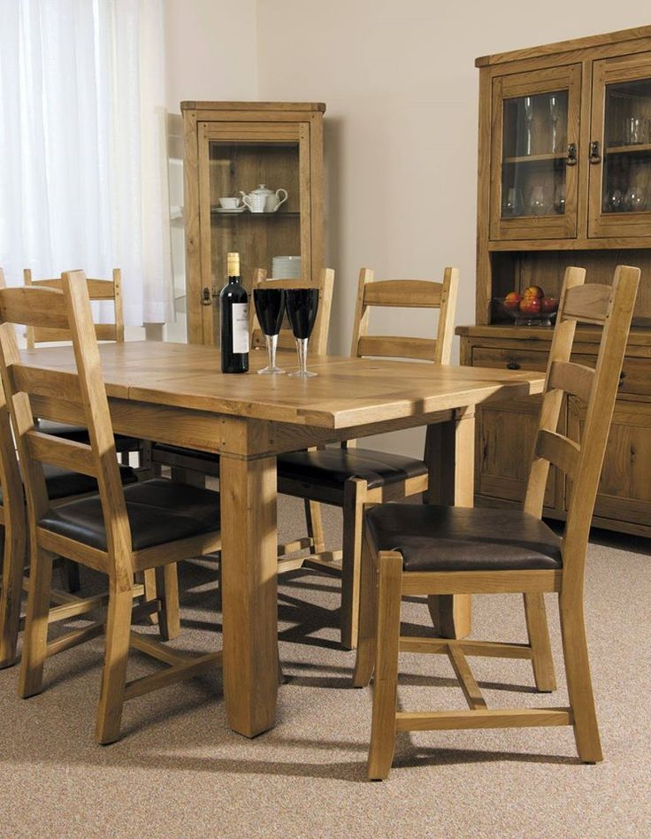 25 Best French Oak Dining Table Images On Pinterest  French Oak Magnificent Oak Dining Room Furniture Review