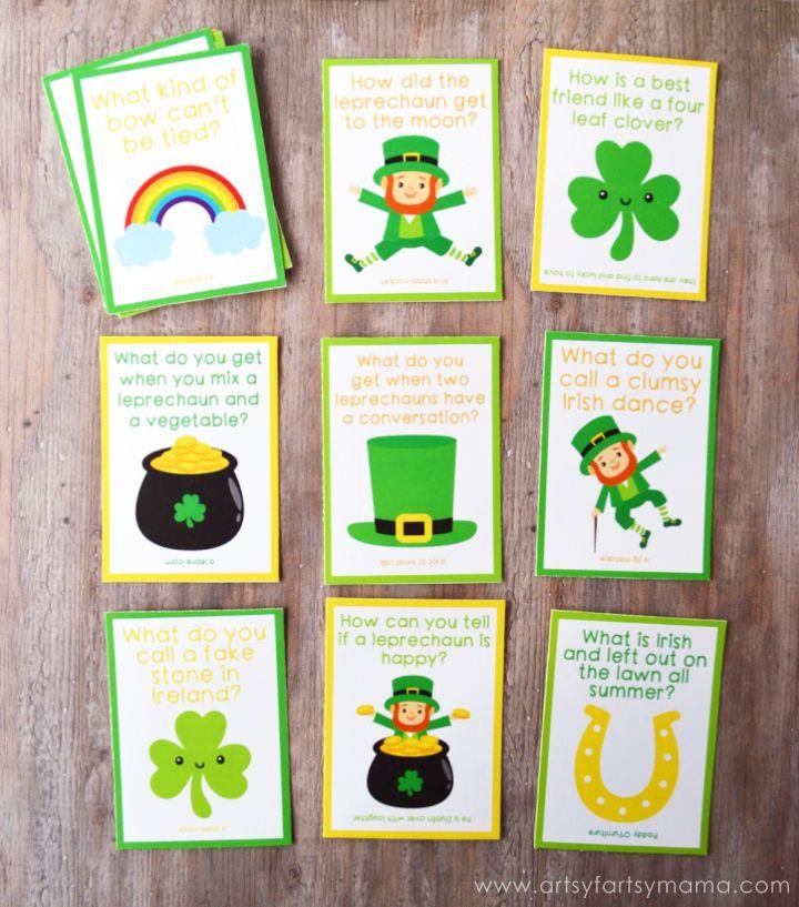 Free Printable St. Patrick's Day Lunch Box Jokes