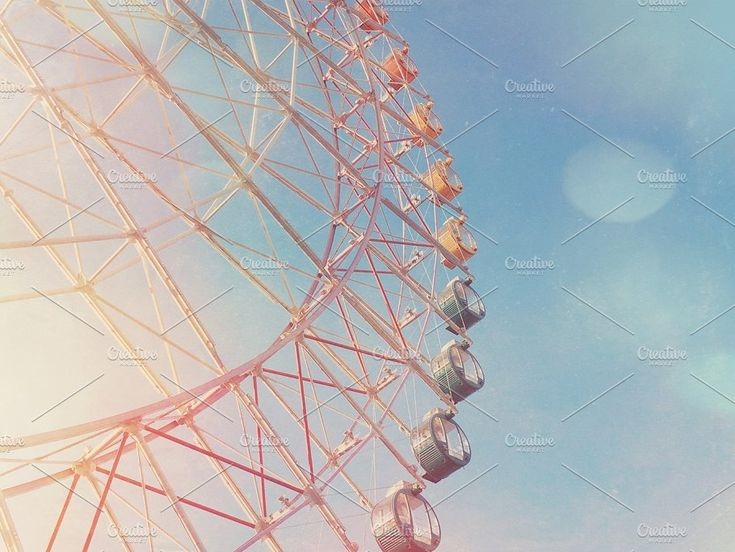 Ferris wheel with light leaks by Nuchylee Photo on @creativemarket