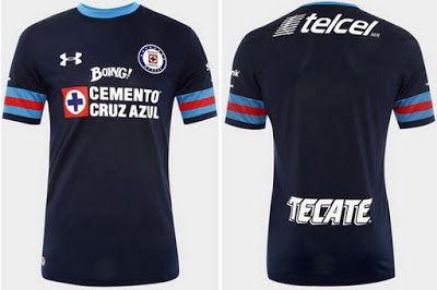 nouvelle maillot Cruz Azul pas cher Troisième 2016-17