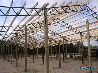 Photos Pictures Of Steel Truss Pole Barns Horse Hay Arenas Run Unders Carports Batting Cages Pavilions Sheds Equipment Storage Enclosures