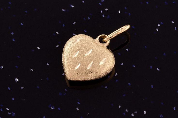 Zlatý přívěsek srdce P047 14kt,0,30g