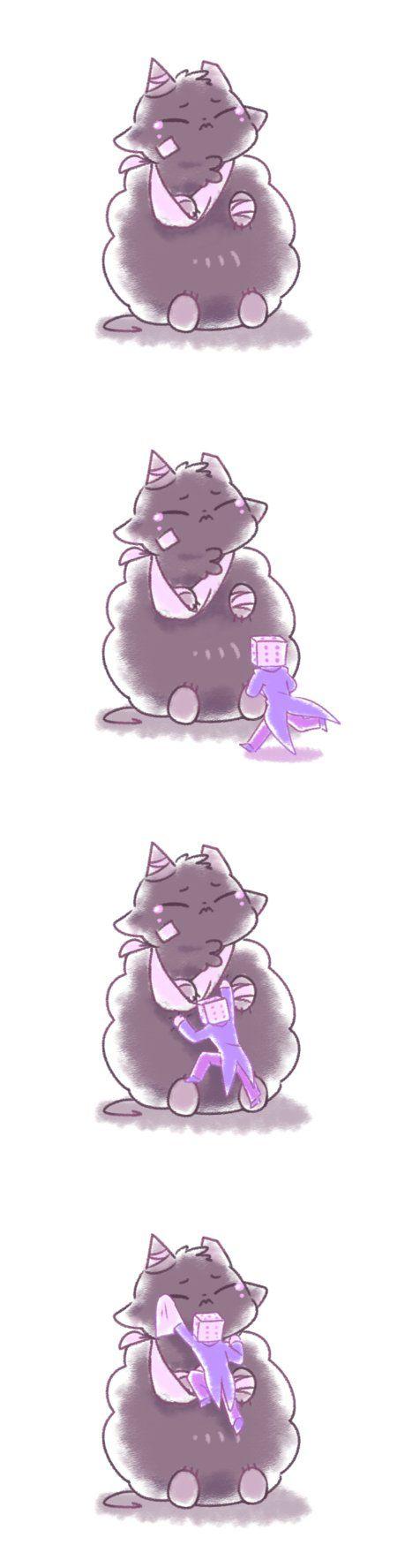 hush my lil fluffy puff by Mochiyy