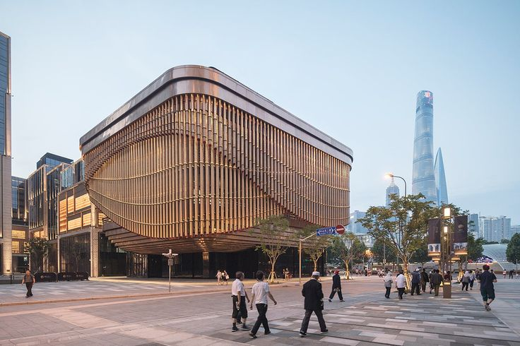 Take a look at the kinetic facade of Foster + Partners and Heatherwick Studio's new Bund Finance Centre in Shanghai | News | Archinect