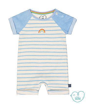 90a30966725b little bird striped towelling romper   silhouettes   Baby boy ...