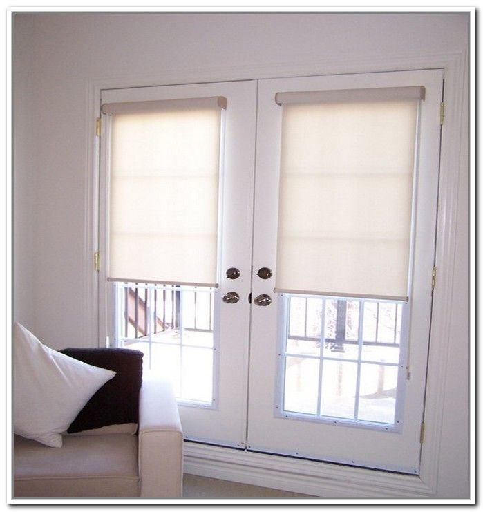 Best 25 french door coverings ideas on pinterest for Door roller blinds