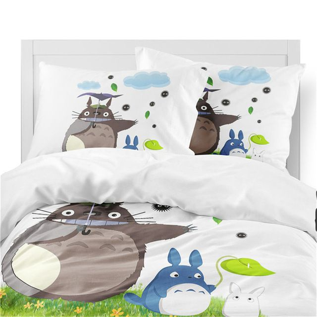 3d Totoro Bedding Set Ii 3 Varian Bedding Set Totoro Green Duvet Covers