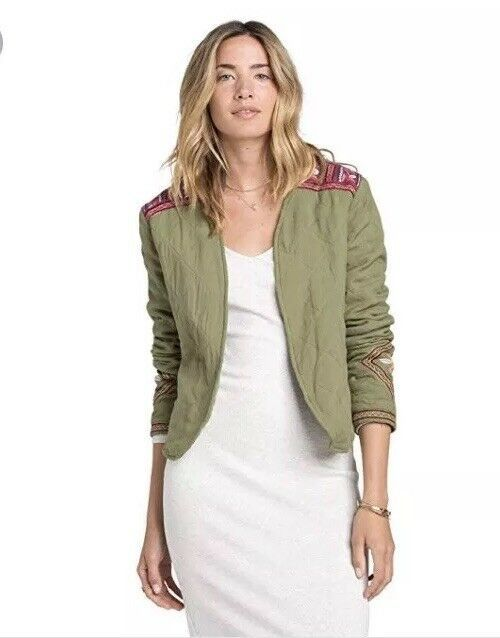6be2dea9e9d7b Billabong East of West Quilted Jacket Seagrass Size M BNWT $99 Sold Out |  eBay